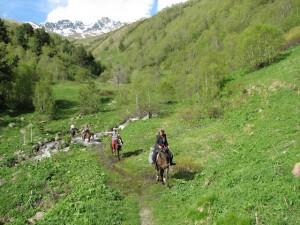horse riding in Svaneti