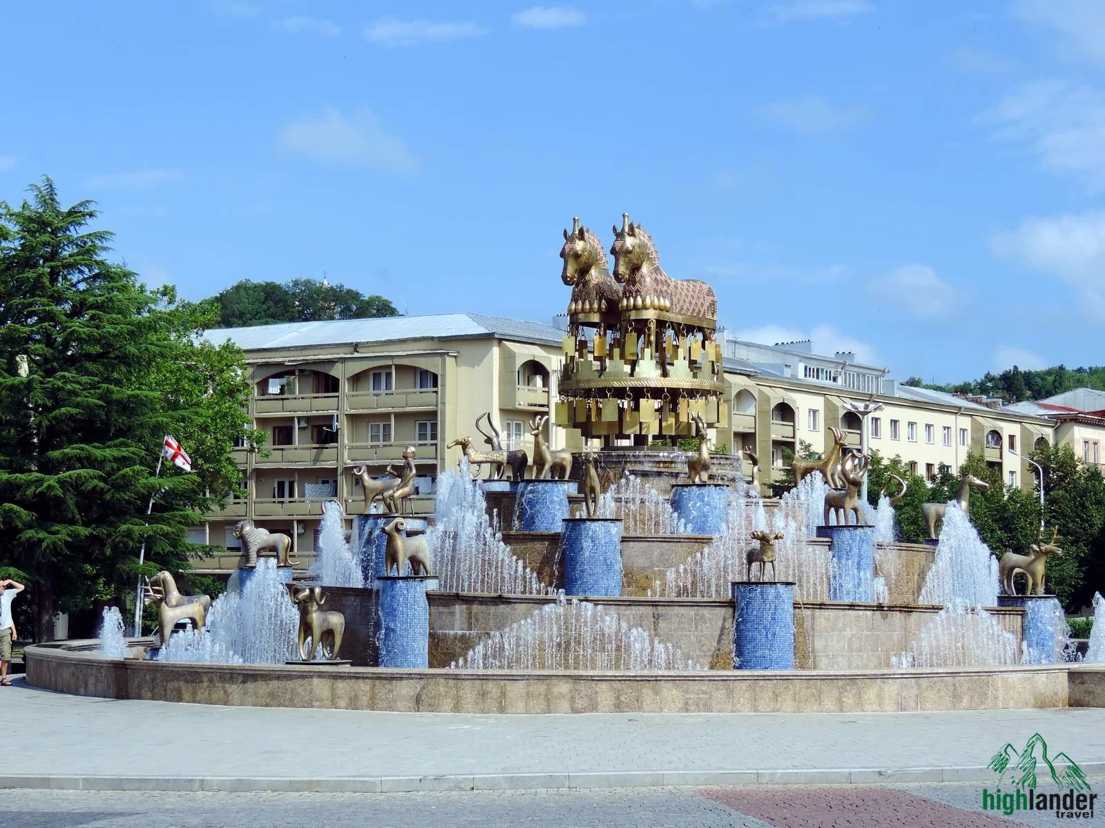 Kolkhida fountain in Kutaisi | Колхидский фонтан в Кутаиси