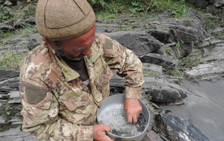 Looking for gold in Svaneti